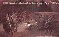 POSTCARD    ADVERTISING   PICKFORDS  Ltd  WWI  Motor Van Charging  Uhlans
