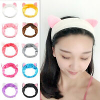 Women New Wash Face Headband Coral Fleece Makeup Sports Turban Bow Hairband~