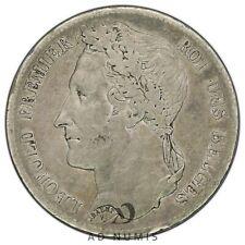 5 francs 1833 Léopold Premier Belgique TTB+ - Argent
