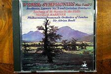 Weber - Symphonies 1 & 2, Marriner  -  CD, VG