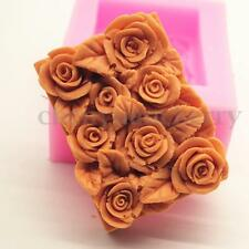 Blossom Rose Flower Silicone Soap Candle Jelly Chocolate Mold Making Supplies