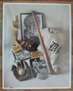 "1993 MLB Baseball Print Reproductions No.8 ""THE GEORGIA PEACH-TY COBB"""