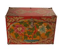 Cofanetto Scatola Tibetano Lotus Gioiello Tibet Buddista Nepal 30x21cm - 7428