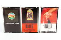 Christopher Cross, Loverboy, Alan Parsons: Pop Rock Cassette Tapes Lot of 3