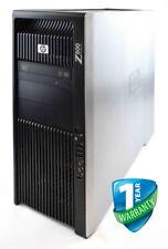 HP Z800 Workstation PC Dual Xeon CPU 48GB 64GB RAM HDD SSD Nvidia Quadro GPU