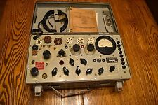 TV-7/U Military Tube Tester Super Nice with books! Sold as-is for parts.