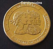 "2010 $1 100 Year of Australian Coinage 1 Dollar Coin "" C "" Canberra Mintmark"