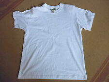 LADIES SIMPLE CASUAL WHITE SLEEVE POLYCOTTON T-SHIRT BY MILLERS - SIZE 12 CHEAP