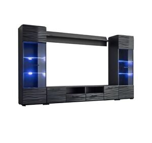 """Modica Modern Entertainment Center 65"""" TV Stand Wall Unit with LED Light"""