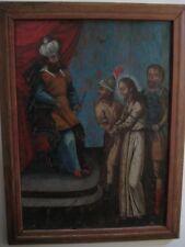 """The Badillo Museum Collection """"Last Judgment"""" Original Oil On Board Circa 1760"""