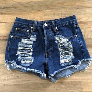 Minkpink Slasher Flick High Waisted Shorts S
