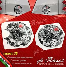 2 Adesivi 3D Tappo Benzina presa air BRABUS Smart for two 450 452 Sticker Bomb b