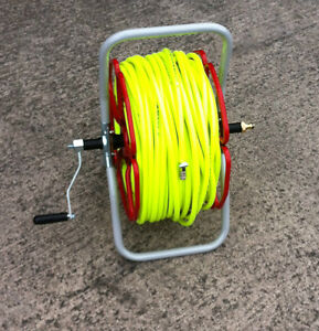HI VIS READY TO USE 6mm Microbore Reel Trolley With 100mtr hose