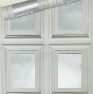 Grey Metallic Silver Marble 3D Effect Panelling Coving Realistic Wallpaper
