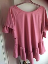 New tag,George top,size 20, Pink,short sleeves with frill,frill at the bottom,