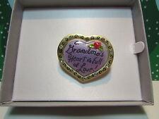 GRANDMA'S HEART IS FULL OF LOVE PIN - New In Gift Box - LAST ONES