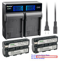 Kastar LCD Rapid Charger Battery for Sony NP-F570 & CCD-SC7 CCD-SC55 CCD-TR12