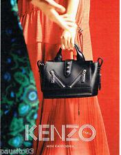 PUBLICITE ADVERTISING 1016  2015   le sac Mini Kalifornia  par Kenzo