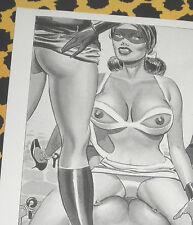 Eric STANTON Fetisch Kult Erotik Postkarte Akt Bdsm Kunst Zeichnung Domina Pain