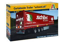 ITALERI 1:24 KIT RIMORCHIO CURTAINSIDE TRAILER SCHOENI.CH ART 3918