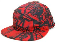 NEFF Headwear Wild Aztec 5 Panel Camper Cap Hat  Red  OSFM