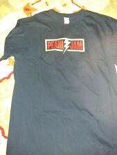 """RARE VTG 2013 PEARL JAM """"Lightning Bolt"""" Tour t-Shirt EDDIE VEDDER m 2-sided sk"""