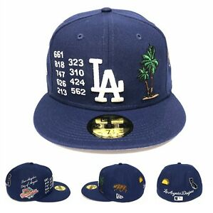 Los Angeles Dodgers LOCAL MARKET PACK Side Patch New Era 59FIFTY Fitted Hat Cap
