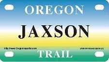 JAXSON Oregon Trail - Mini License Plate - Name Tag - Bicycle Plate!