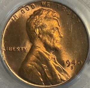 1940-D Lincoln Cent MS66RD Wheat Penny Red Gem!