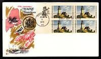 MAINE STATEHOOD Zip Block Stamps 1391 Cover Craft First Day Cover FDC (A4145)