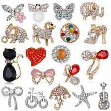 New Lovely Cute Crystal Lapel Collar Pin Corsage Brooch Women Wedding Jewelry
