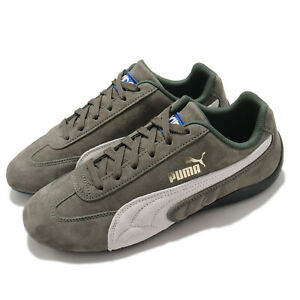 Puma Speedcat OG Sparco Olive Green White Men Women Unisex Motor Shoes 339844-04