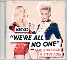 NERVO ft AFROJACK & STEVE AOKI - We're all no one 1TR DUTCH ACETATE PROMO CD