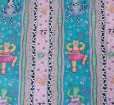 Sweetheart Ballerinas Phyllis Dobbs BTY Quilting Treasures Cat Frog Cow Stripe