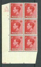1936, Sg458, P2, 1d Scarlet, A36 / 6 dot, Umm, (02814)
