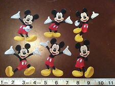 Disney Mickey Mouse Fabric Iron On Appliques - set of 6