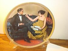 """Vintage Norman Rockwell """"Flirting in the Parlor"""" Collectible Plate Fine China"""
