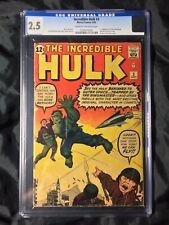 🔥Incredible Hulk #3 CGC 2.5 1962 1st Ringmaster-  🔥3rd Hulk - Origin