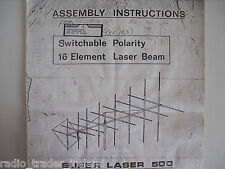 SUPER LASER 500 (manuale di istruzioni solo)........... radio_trader_ireland.