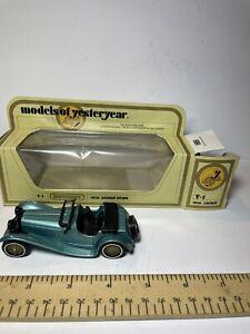 Matchbox Models of Yesteryear Y1 1936 Jaguar SS100 Preproduction black grille