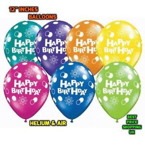 "12""inch Print Happy Birthday Latex Helium Large Balloons Party Baloon Air Colour"