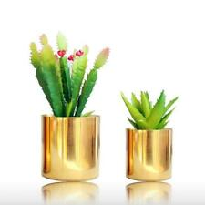 Home Elegant Living Room GardeGold Ceramic Vase Flower Pots Planters Art Design