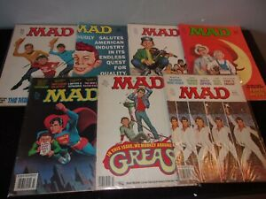 LOT OF 13 MAD MAGAZINES 1970'S-80'S