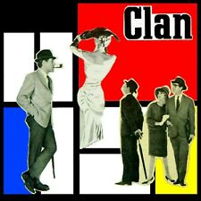 """Collage sur carton prêt à encadrer """"Clan"""" 13x13 cm"""