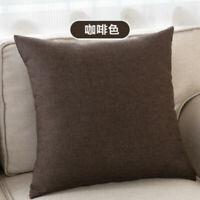 Cotton Pillow Funda de cojín de almohadas decorativas de algodón sólido creativo