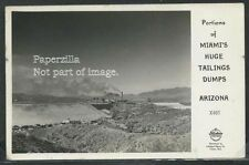 AZ Miami RPPC 40's HUGE TAILINGS DUMP Town View MINE & SMELTER Frashers X460 Exc