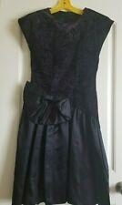 Vintage 1990's Semi formal Dress,black with Bling purple/blue,sz 3 Juniors,Bow