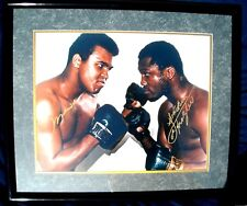Muhammad Ali Joe Frazier signed auto 16x20 photo matted framed WITH EXACT PROOF
