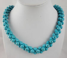 Natural turquoise Handmade Gemstone Jewellery Beads Necklace N3