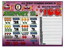 2 - 2000 4's CENTURY 13's JAR TICKET Bingo Pull Tab seal card (1-$100)